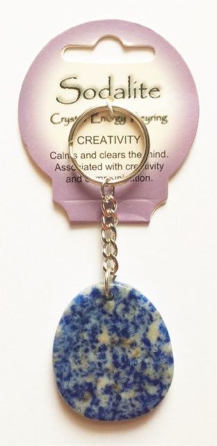 Crystal Energy - Sodalite - Creativity - Gemstone Keyring